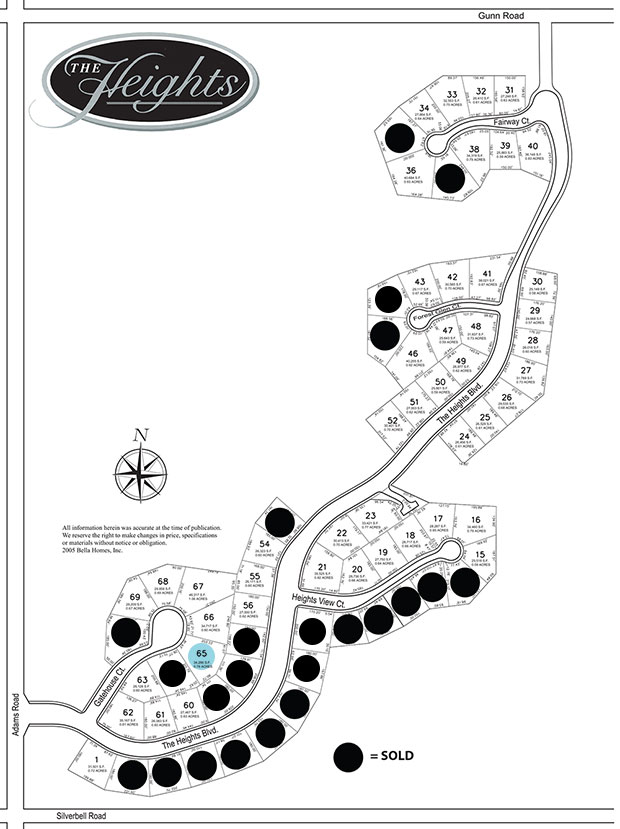 Butler Ridge Map